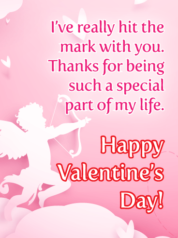 Hit the Mark with You - Happy Valentine's Day Card for Everyone