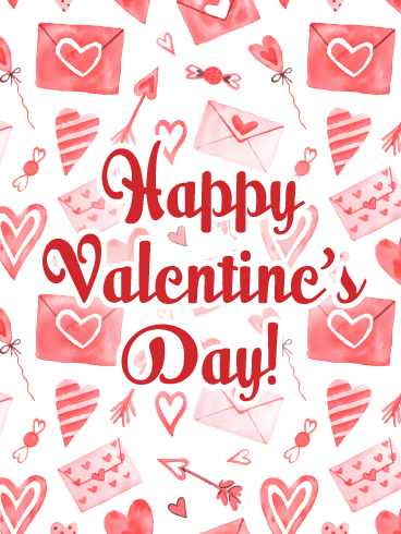 Wishing a Day Full of Love - Happy Valentine's Day Card for Everyone
