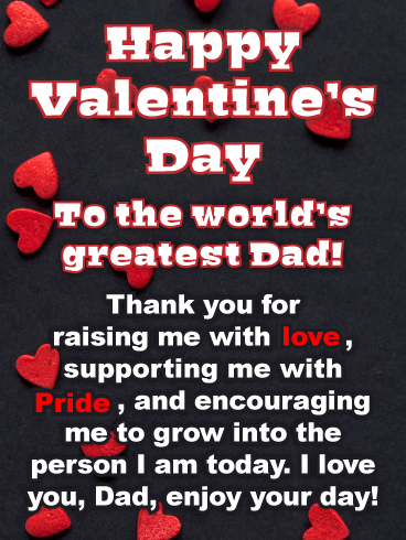 World's Greatest Dad - Happy Valentine's Day Card for Father
