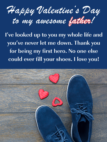 Big Shoes to Fill - Happy Valentine's Day for Father
