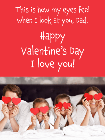 Heart Eyes - Happy Valentine's Day Card for Father