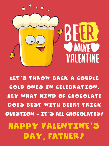 Beer Mine - Funny Valentine's Day Card for Father