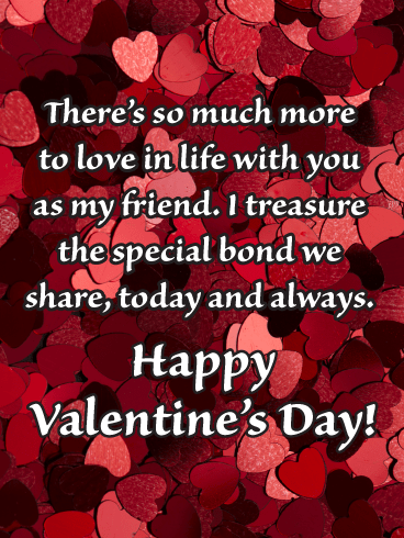 The Special Bond We Share - Happy Valentine's Day Card for Friends