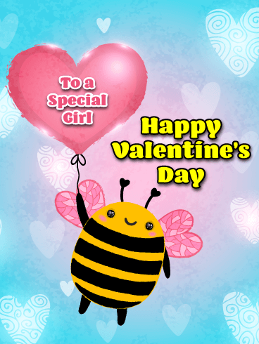 Unbeelievably Cute Happy Valentine S Day For Girl Birthday Greeting Cards By Davia