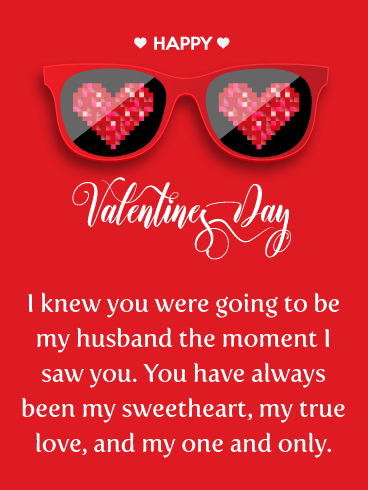 The Moment I Saw You - Happy Valentine's Day Card for Husband