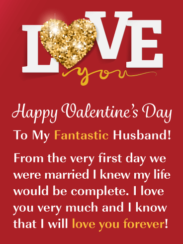 I'll Love You Forever - Happy Valentine's Day Card for Husband