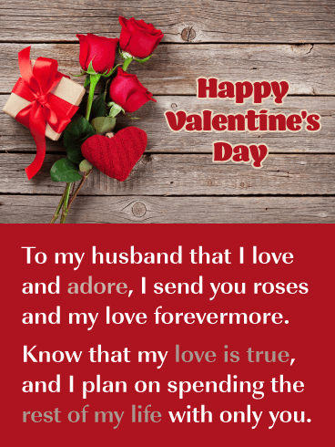 My Love is True - Happy Valentine's Day Card for Husband