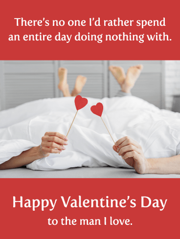 Relaxing Together - Happy Valentine's Day Card for Him