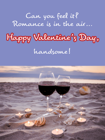 In the Air - Happy Valentine's Day Card for Him
