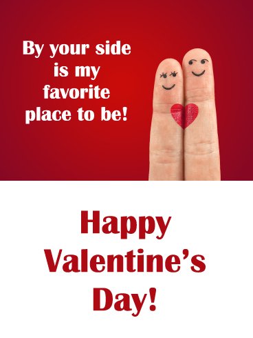 By Your Side - Happy Valentine's Day Card for Him