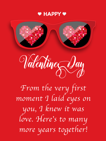 Love Vision - Happy Valentine's Day Card for Her