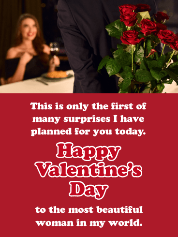 Surprise for Her - Happy Valentine's Day Card