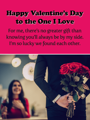 How Lucky to Have Found You - Happy Valentine's Day Card for Her