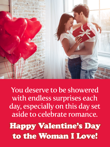 Let's Celebrate Romance - Happy Valentine's Day Card for Her