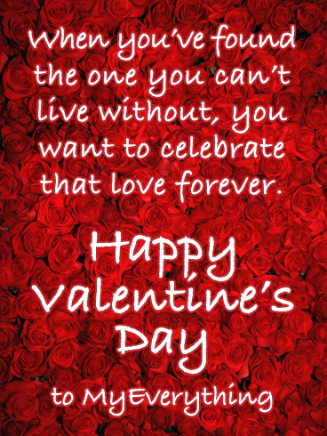 Love You Forever - Happy Valentine's Day Card for Her