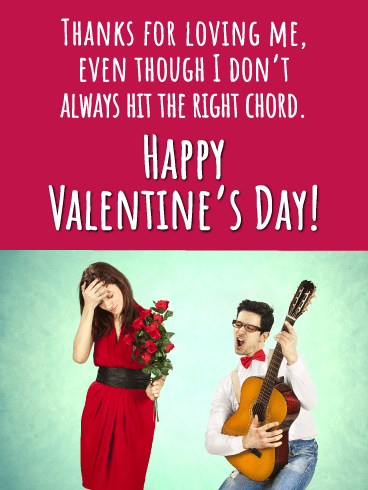 Romeo' Serenade - Happy Valentine's Day Card for Her