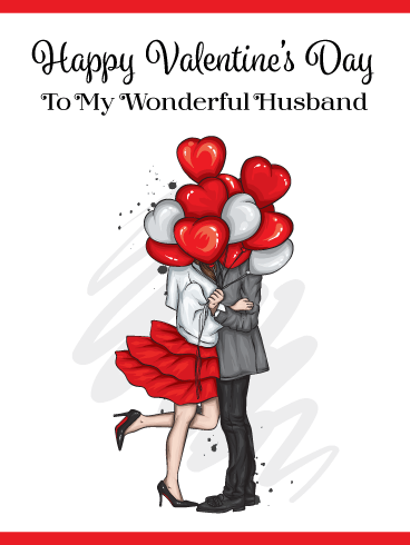 A Special Kiss – Happy Valentine's Day Card for Husband