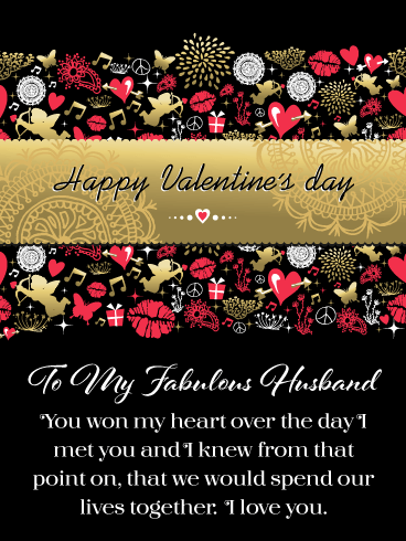 You Won My Heart – Happy Valentine's Day Card for Husband