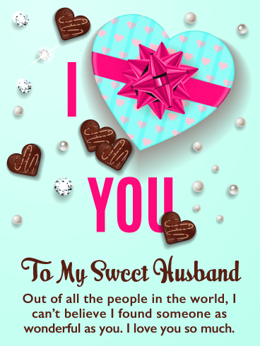 Chocolate Hearts – Happy Valentine's Day Card for Husband