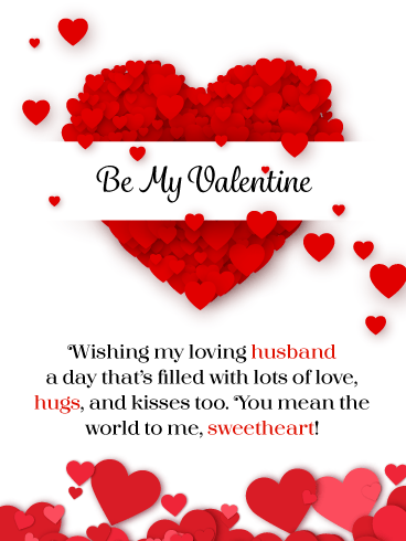 You're My Sweetheart – Happy Valentine's Day Card for Husband