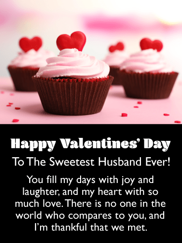 Sweet Cupcakes – Happy Valentine's Day Card for Husband