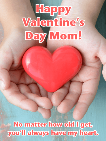 A Keepsake Heart - Happy Valentine's Day Card for Mother