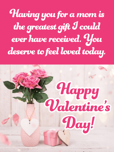 Grateful To Have You For A Mom Happy Valentine S Day Card For Mother Birthday Greeting Cards By Davia