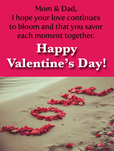Mom & Dad, I hope your love continues to bloom and that you savor each moment together. Happy Valentine's Day!