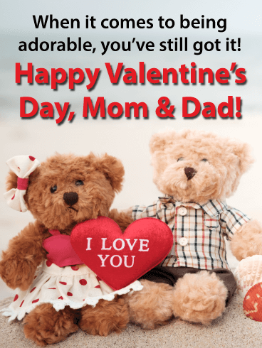 Adorable Pair - Happy Valentine's Day Card for Parents