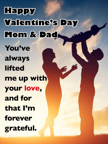 Forever Grateful - Happy Valentine's Day Card for Parents