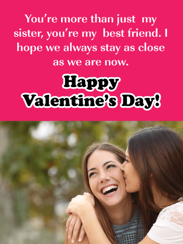 More Than Just Sister - Valentine's Day Card for Sister