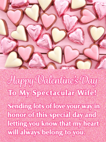 Special Candy Hearts - Happy Valentine's Day Card for Wife