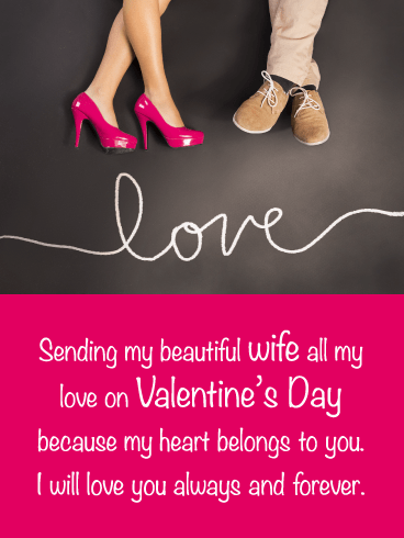 My Heart Belongs to You – Happy Valentine's Day Card for Wife