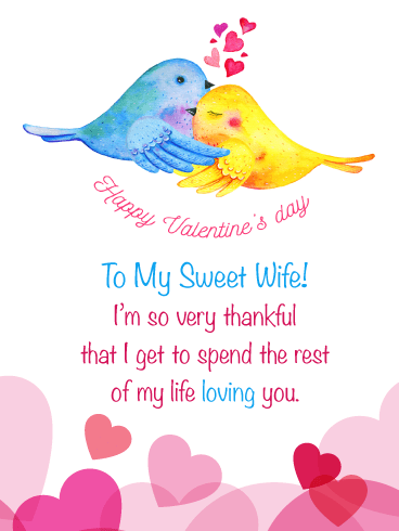 Love Birds – Happy Valentine's Day Card for Wife