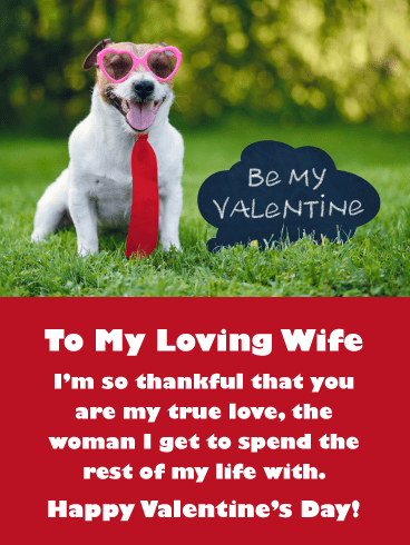 My True Love – Happy Valentine's Day Card for my lovely wife