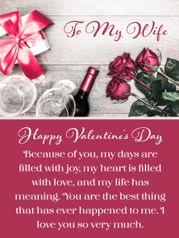 Filled with Joy – Happy Valentine's Day Card for Wife