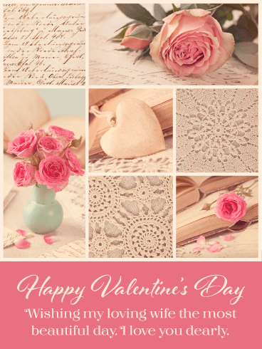 Exquisite Flowers – Happy Valentine's Day Card for Wife