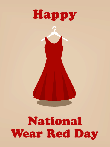 Happy Dress- National Wear Red Day Card