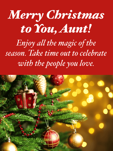 A Magic of the Season - Merry Christmas Card for Aunt
