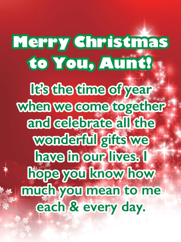 Love You, Auntie! - Merry Christmas Card for Aunt