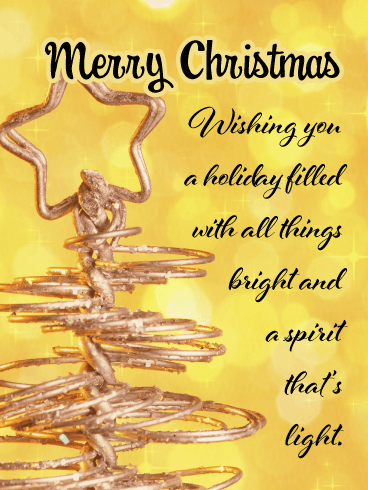 Merry and Bright - Contemporary Merry Christmas Card