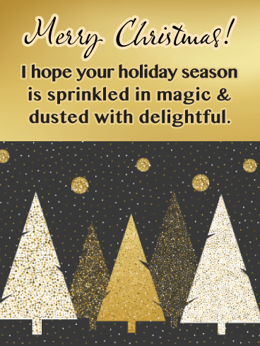 Sprinkled in Magic - Contemporary Merry Christmas Card