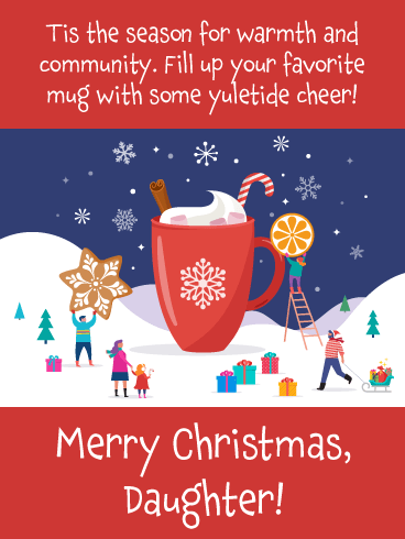 Mug of Cheer - Merry Christmas Wishes for Daughter
