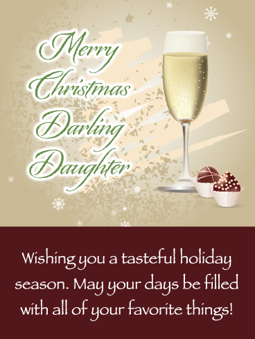 Few of Your Favorite Things - Merry Christmas Card for Daughter