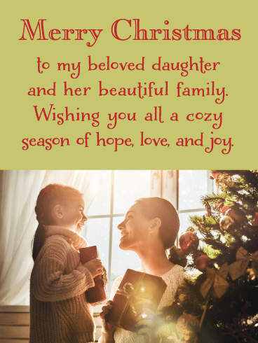 Mother and Daughter Tree - Merry Christmas Wishes Card