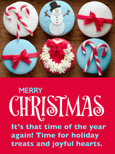 Festive Holiday Treats! Merry Christmas Card for Everyone