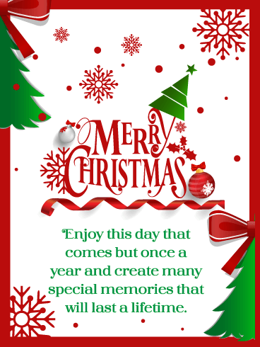 Special Memories – Merry Christmas Card for Everyone