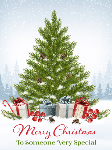 Charming Holiday Tree - Merry Christmas Card for Everyone
