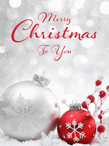 Beautiful Ornaments Merry Christmas Card For Everyone