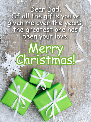 Dear My Perfect Dad! - Merry Christmas Card for Father